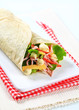 Easy ham and cheese wrap