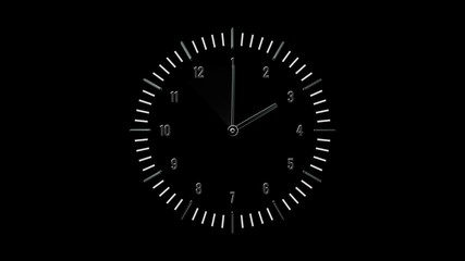 Clock animation with Alpha channel