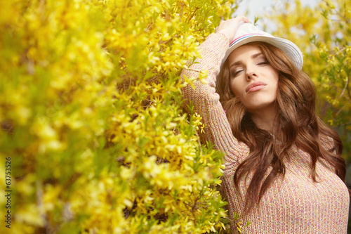 Amazing spring woman portrait