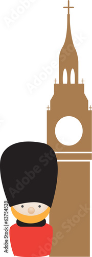 siple colour icon representing london