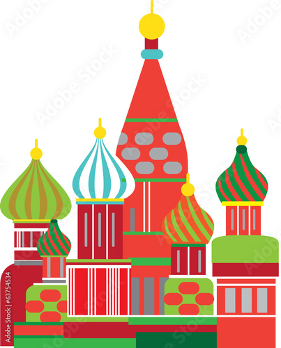 moscow russian onion dome illustration