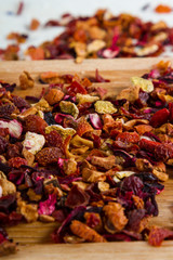 Delicious caffeine-free infusion of dried fruit