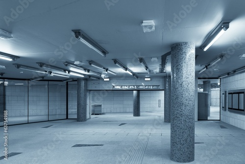 Large underground interior in a city