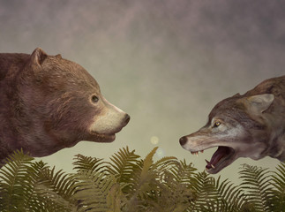 Wolf and Bear. Dialogue.