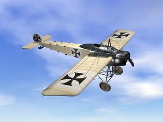 Vintage aircraft - 3D render