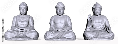set of meditation - 3D render
