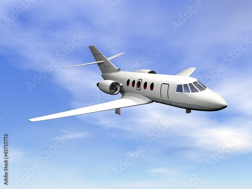 Private jet plane - 3D render