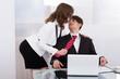 Sensuous Secretary Seducing Boss At Desk