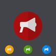 Vector modern circle icons set on gray