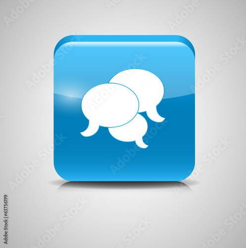 Shine Glossy Computer Icon Feedback Vector Illustration