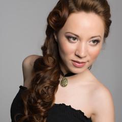 Portrait pretty young woman