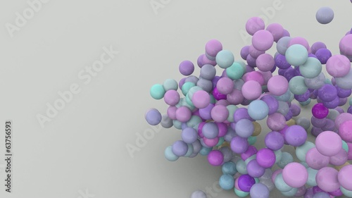 3D ANIMATION FLOW OF PARTICULES SPHERES