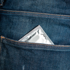 Condom in jeans pocket