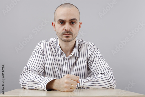 Man at desk