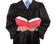 Judge Holding Statute Book