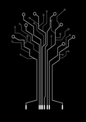 abstract tree symbolizes high technologies