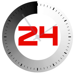 24 hours per day the symbol for design
