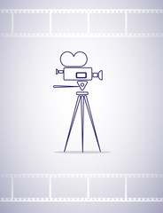 movie camera icon for design