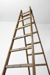 High wood ladder
