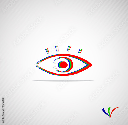 abstract eye for your design with a place for the text