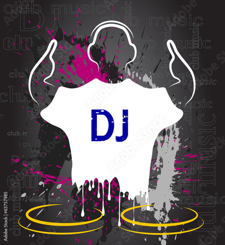 silhouette of the DJ against grunge