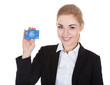 Young Woman Holding Credit Card