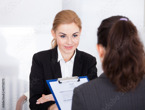 canvas print picture Businesswoman Conducting Interview