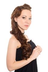 Portrait of a young brunette