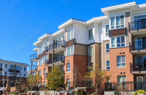 canvas print picture Apartment Building