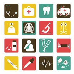 Medical icons flat design