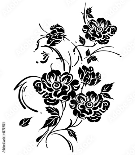 Floral vector design element