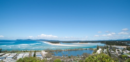 Nambucca heads scenic panorama, New South Wales, Australia.