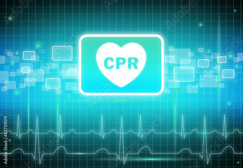 CPR sign on virtual screen