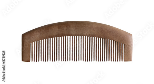 Wood comb isolated