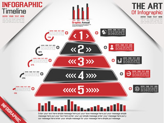 INFOGRAPHIC TIMELINE PYRAMID