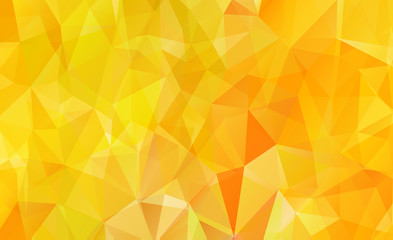 Orange background polygon