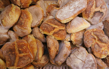 Forme di pane caldo