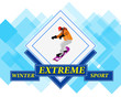 Snowboarding.Adventure Winter Sport.Extreme Skiing.Vector