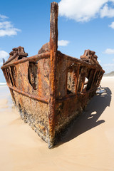 Ships bow, from wreck of Maheno.