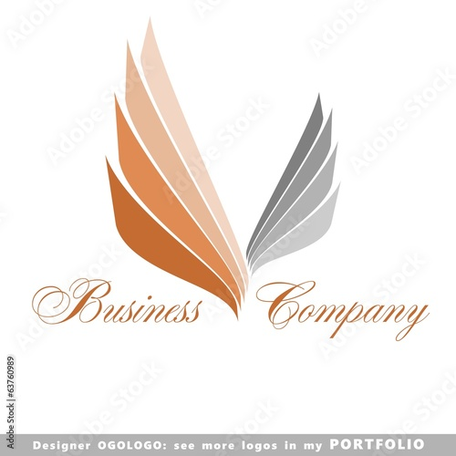 logo, illustrations, symbols, vector, striped, art, sign, wing