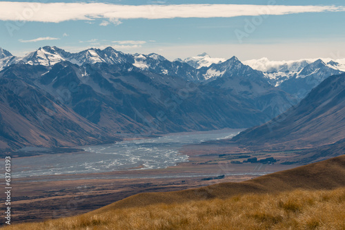 Godley river in Southern Alps, New Zealand