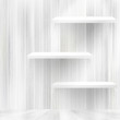 Blank white wooden bookshelf.   EPS10