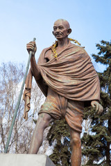 Mahatma Gandhi. The monument in Moscow, Russia