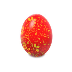 Easter egg with hohloma pattern