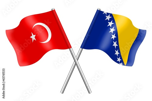 Flags: Turkey and Bosnia-Herzegovina