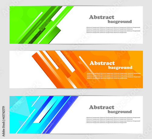 Abstract background. Banners