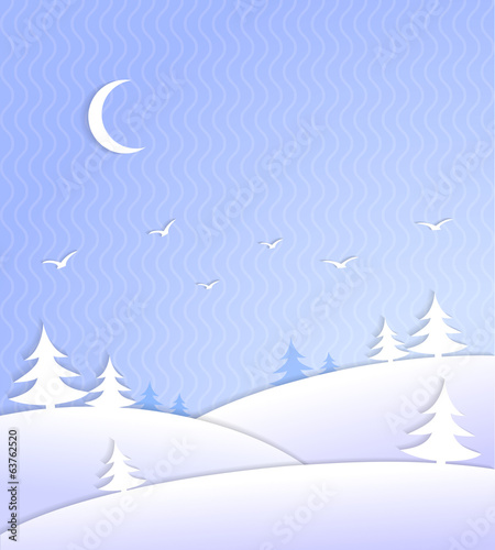 Winter background scene ice cold