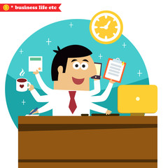Multitasking and multipurpose businessman