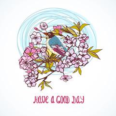 Good day wishing card