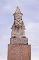 Egyptian spinx on Neva embankment, St.-Petersburg, Russia
